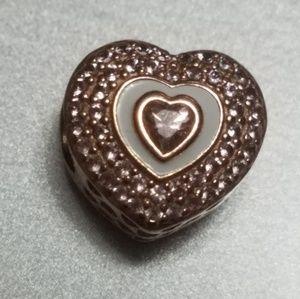 Pandora Heart Charm In Rose Gold